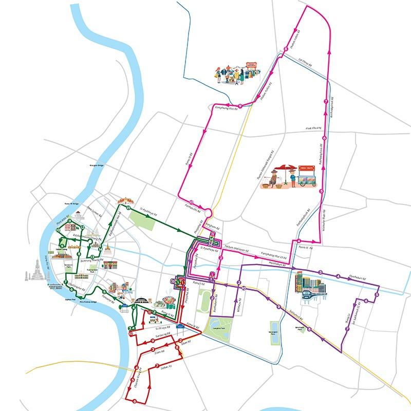 「サイアムホップ」バンコク観光バス!